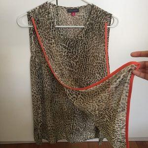 Vince Camuto Cheetah Tank Top